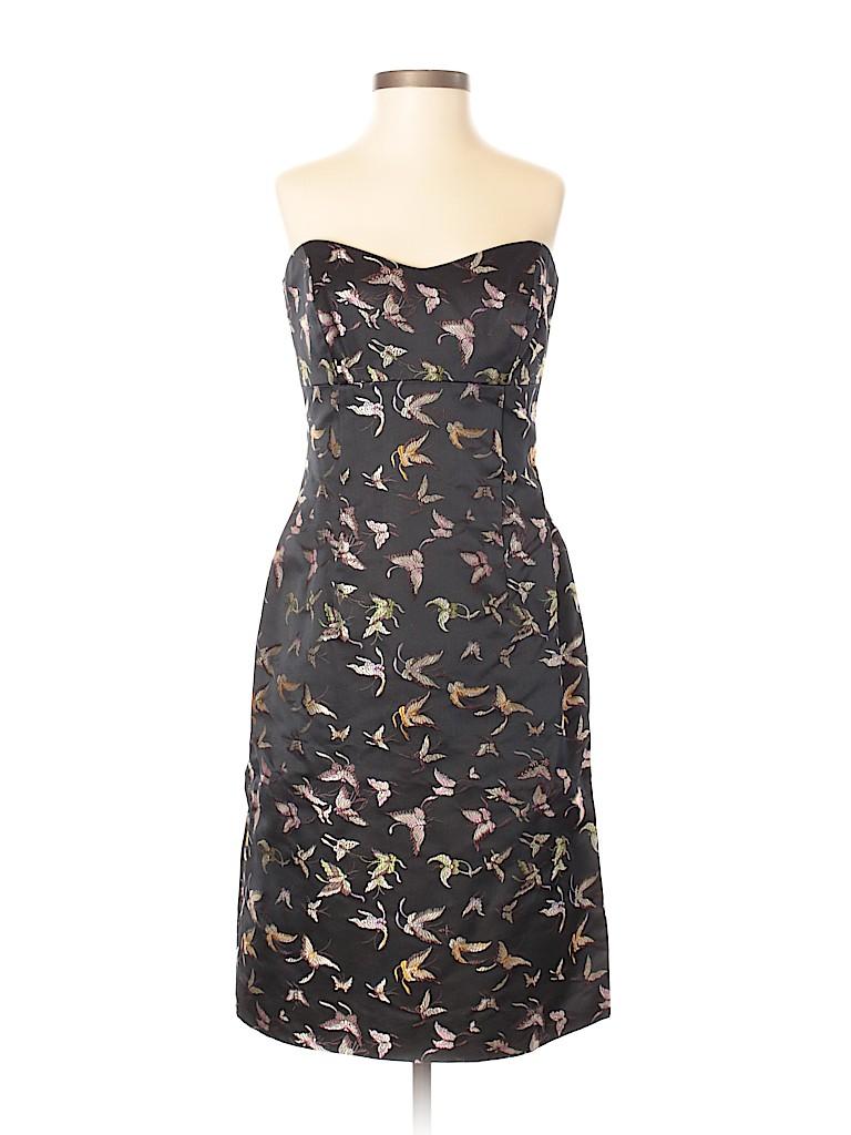 Nicole Miller New York City Print Black Cocktail Dress Size 2 81