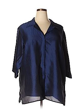 Venezia Short Sleeve Silk Top Size 28 - 26 Plus (Plus)