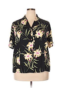 Jamaica Bay Short Sleeve Button-Down Shirt Size 2X (Plus)