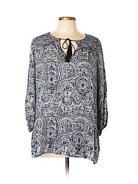 Ella Moss 3/4 Sleeve Blouse Size L