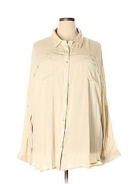 Very J Long Sleeve Button-Down Shirt Size 3X (Plus)