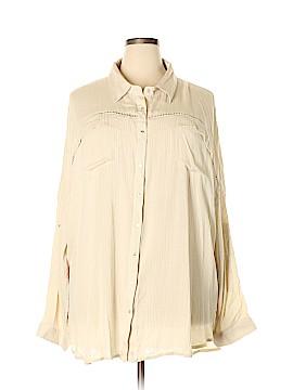 Very J Long Sleeve Button-Down Shirt Size 2X (Plus)