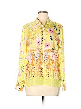 Sigrid Olsen Long Sleeve Silk Top Size M