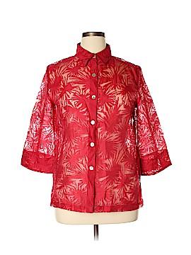 Wear It 3/4 Sleeve Button-Down Shirt Size 2X (Plus)