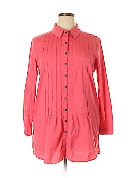 Serengeti Long Sleeve Button-Down Shirt Size L