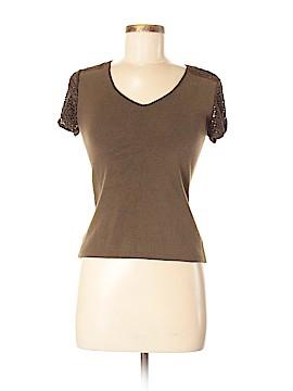 Clio Short Sleeve Silk Top Size M
