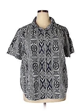 Roaman's Short Sleeve Button-Down Shirt Size 26 (Plus)