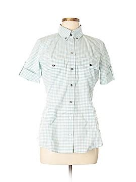 New Balance Short Sleeve Button-Down Shirt Size M