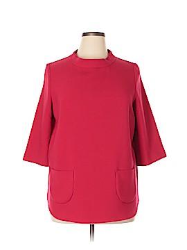 Pink Tartan 3/4 Sleeve Top Size XL