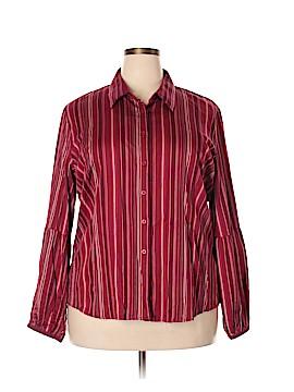 Van Heusen Long Sleeve Button-Down Shirt Size XXL