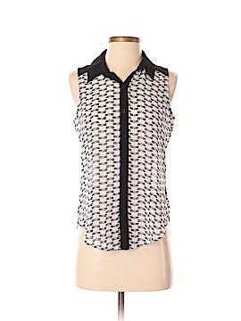BCX Sleeveless Button-Down Shirt Size S