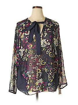 RACHEL Rachel Roy Long Sleeve Blouse Size 24 (Plus)