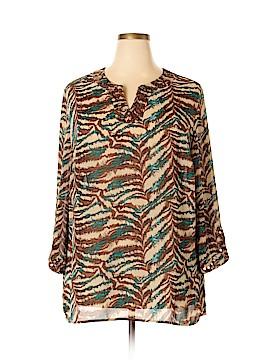 Maggie Barnes 3/4 Sleeve Blouse Size 1X (Plus)