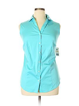 Charter Club Sleeveless Button-Down Shirt Size 14W