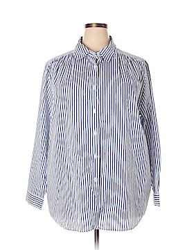 Roaman's Long Sleeve Button-Down Shirt Size 1X (Plus)