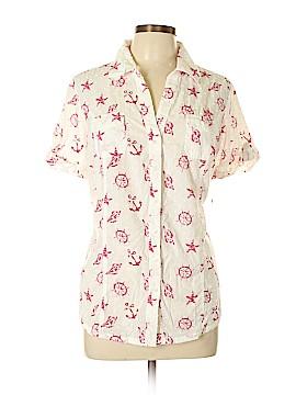 Karen Scott Short Sleeve Button-Down Shirt Size 0X (Plus)