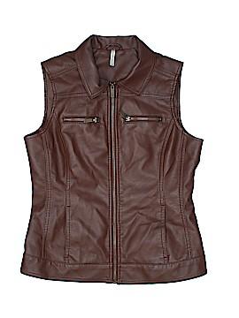 PASSPORTS Faux Leather Jacket Size S
