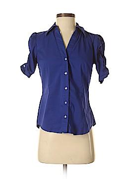 INC International Concepts 3/4 Sleeve Button-Down Shirt Size 2