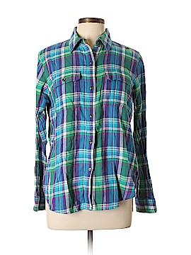 Chaps Long Sleeve Button-Down Shirt Size L