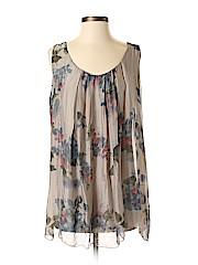 H Trend Sleeveless Silk Top