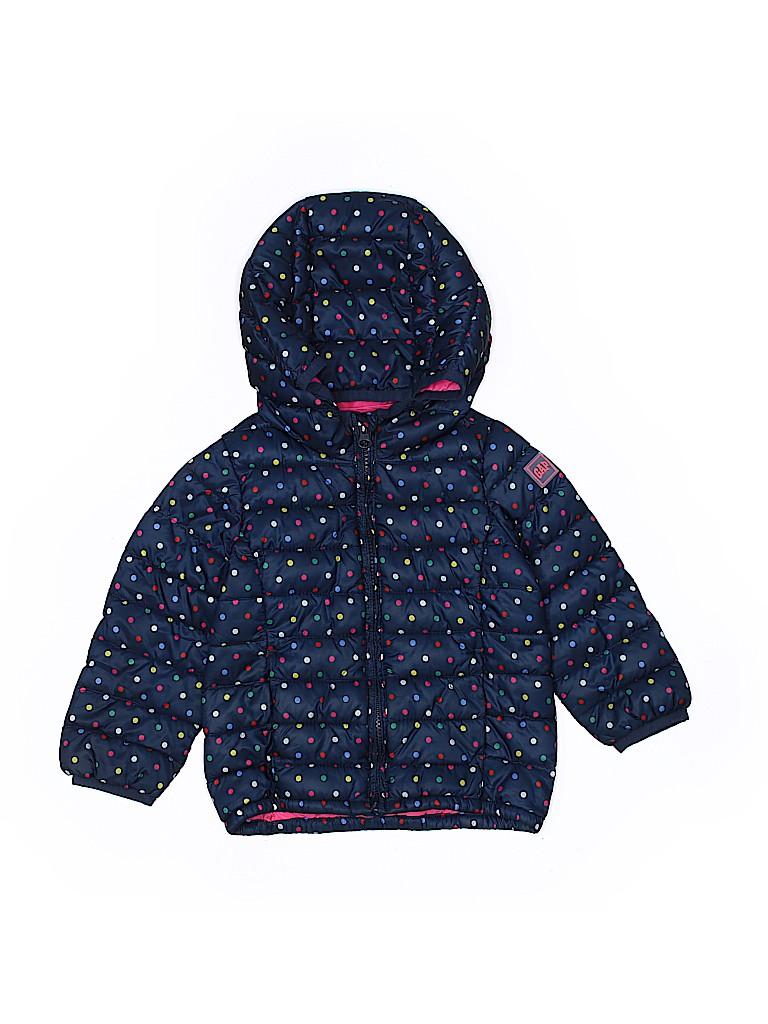 d6f0ac13e7ba Baby Gap 100% Polyester Polka Dots Dark Blue Coat Size 3T - 61% off ...