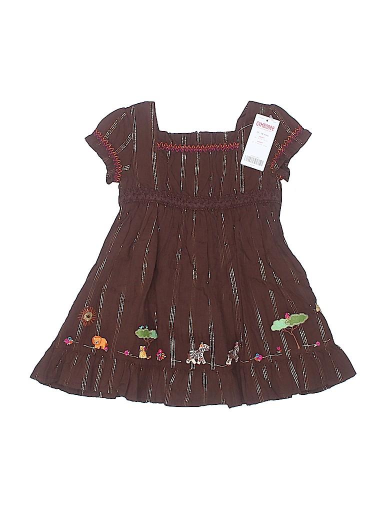 e40443767 Gymboree Stripes Brown Dress Size 12-18 mo - 63% off