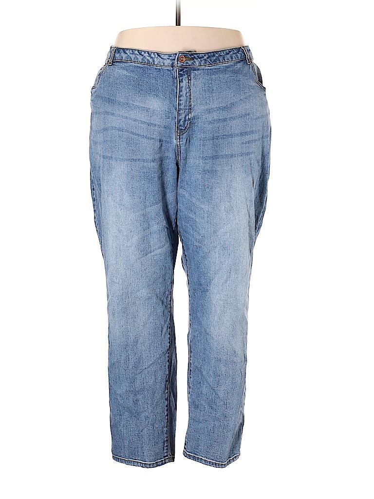 9dcc3182624 Ellos Solid Blue Jeans Size 30 (3X) (Plus) - 69% off