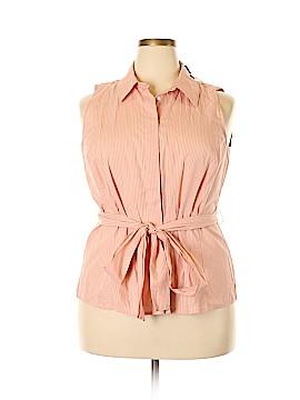 Lane Bryant Sleeveless Button-Down Shirt Size 18 (Plus)