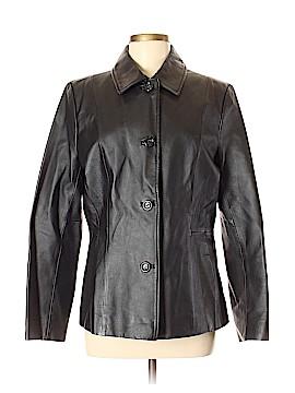 Croft & Barrow Leather Jacket Size M