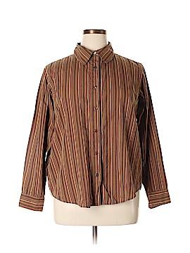 Breckenridge Long Sleeve Button-Down Shirt Size 1X (Plus)
