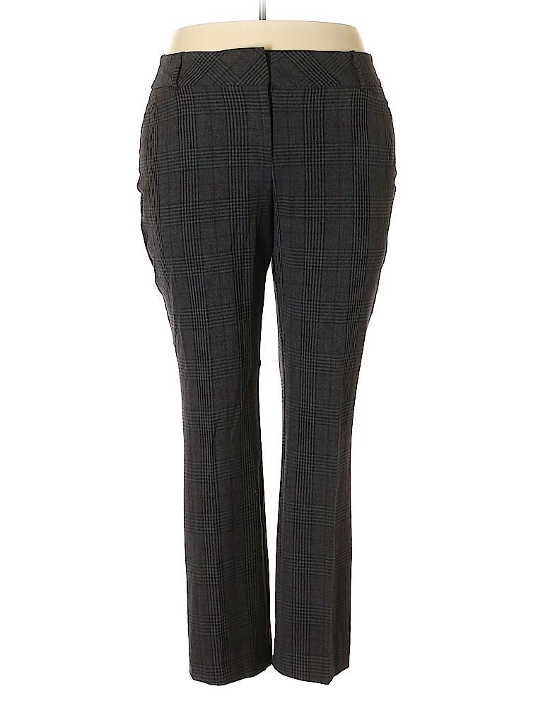 4f645e53e55 Roz   Ali Plaid Gray Dress Pants Size 16 - 71% off