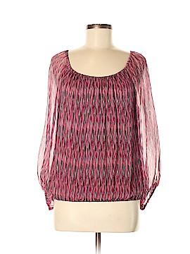 Ella Moss Long Sleeve Silk Top Size M