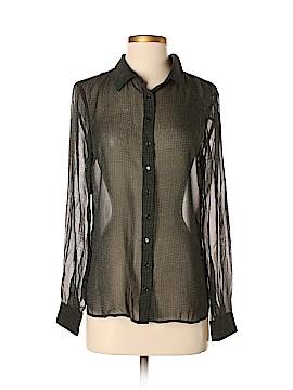 Eileen Fisher Long Sleeve Silk Top Size XS