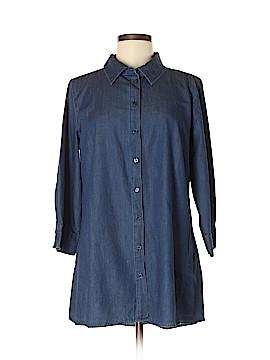 Joan Rivers Long Sleeve Button-Down Shirt Size M