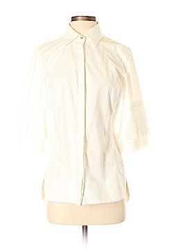 Hilton Hollis 3/4 Sleeve Button-Down Shirt Size 4