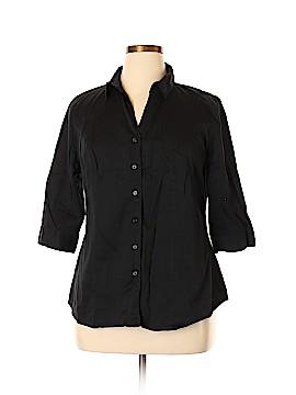 Lane Bryant 3/4 Sleeve Button-Down Shirt Size 18 Plus (3) (Plus)