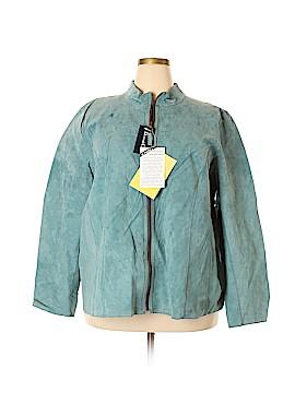Denim & Co Leather Jacket Size 3X (Plus)