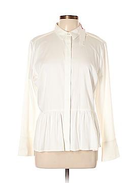 Elle Long Sleeve Button-Down Shirt Size L