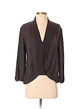 Halston Heritage Long Sleeve Silk Top Size XS