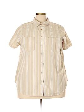 Roaman's Short Sleeve Button-Down Shirt Size 2X (Plus)