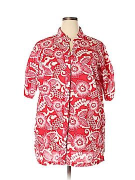 Venezia Short Sleeve Button-Down Shirt Size 1X (Plus)