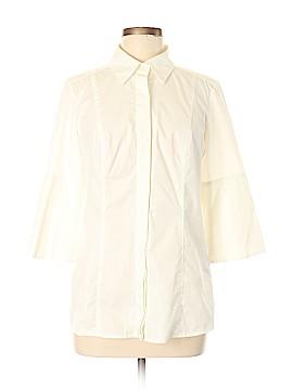 Hilton Hollis 3/4 Sleeve Button-Down Shirt Size M