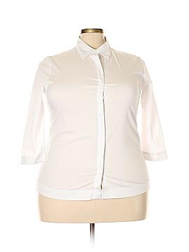 Bogari 3/4 Sleeve Button-Down Shirt Size XXL