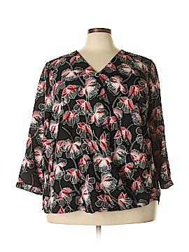 Alfani Essentials 3/4 Sleeve Blouse Size 24 (Plus)