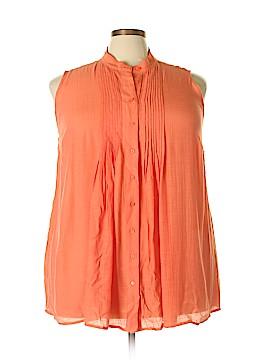 Alfani Sleeveless Button-Down Shirt Size 20 (Plus)