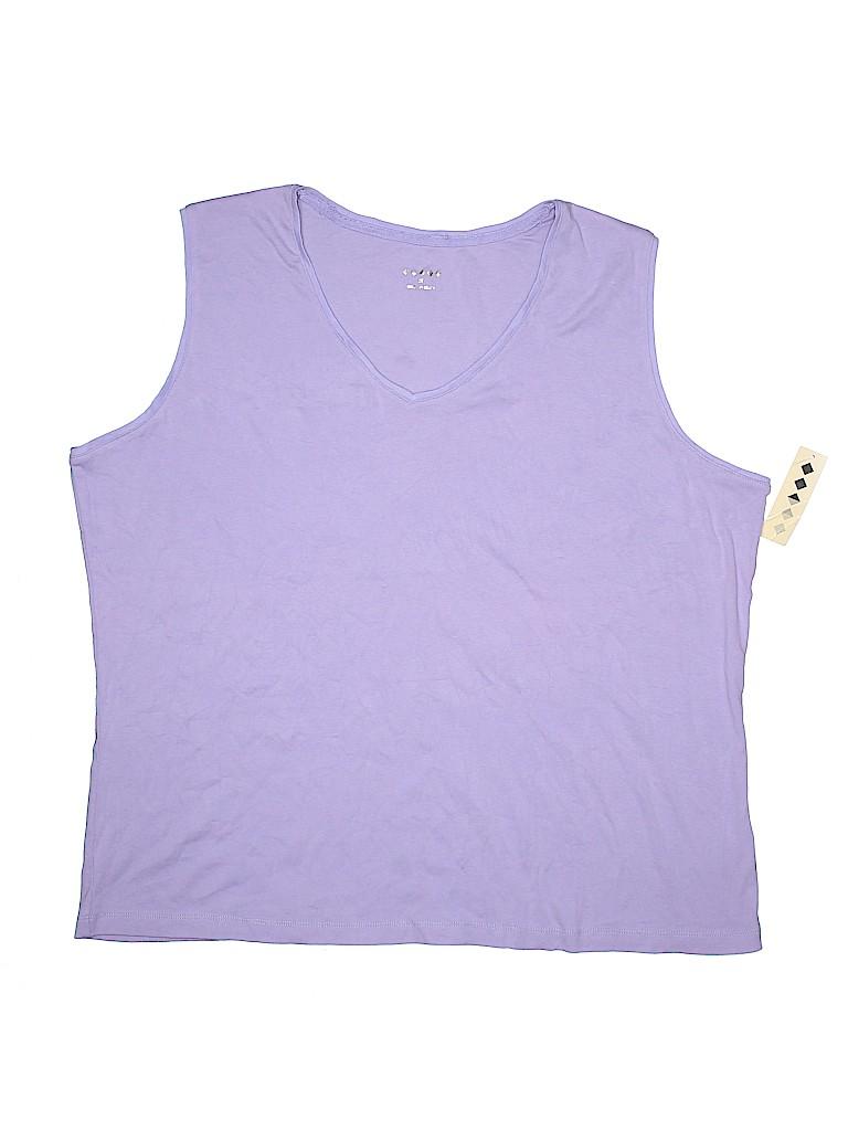 8e6f0fc086d58 Target 100% Cotton Solid Light Purple Sleeveless T-Shirt Size 2X ...