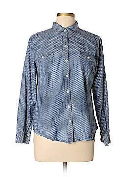 Nike Long Sleeve Button-Down Shirt Size L