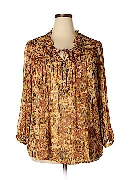 Rose & Olive Long Sleeve Blouse Size 2X (Plus)