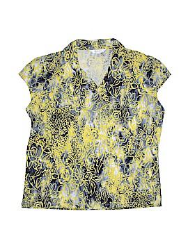 Conrad C Short Sleeve Blouse Size 1X (Plus)