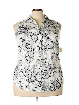 Charter Club Sleeveless Button-Down Shirt Size 16 (Plus)